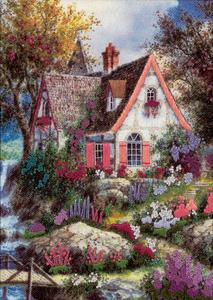 """Схема вышивки  """"Дом в саду """" ."""